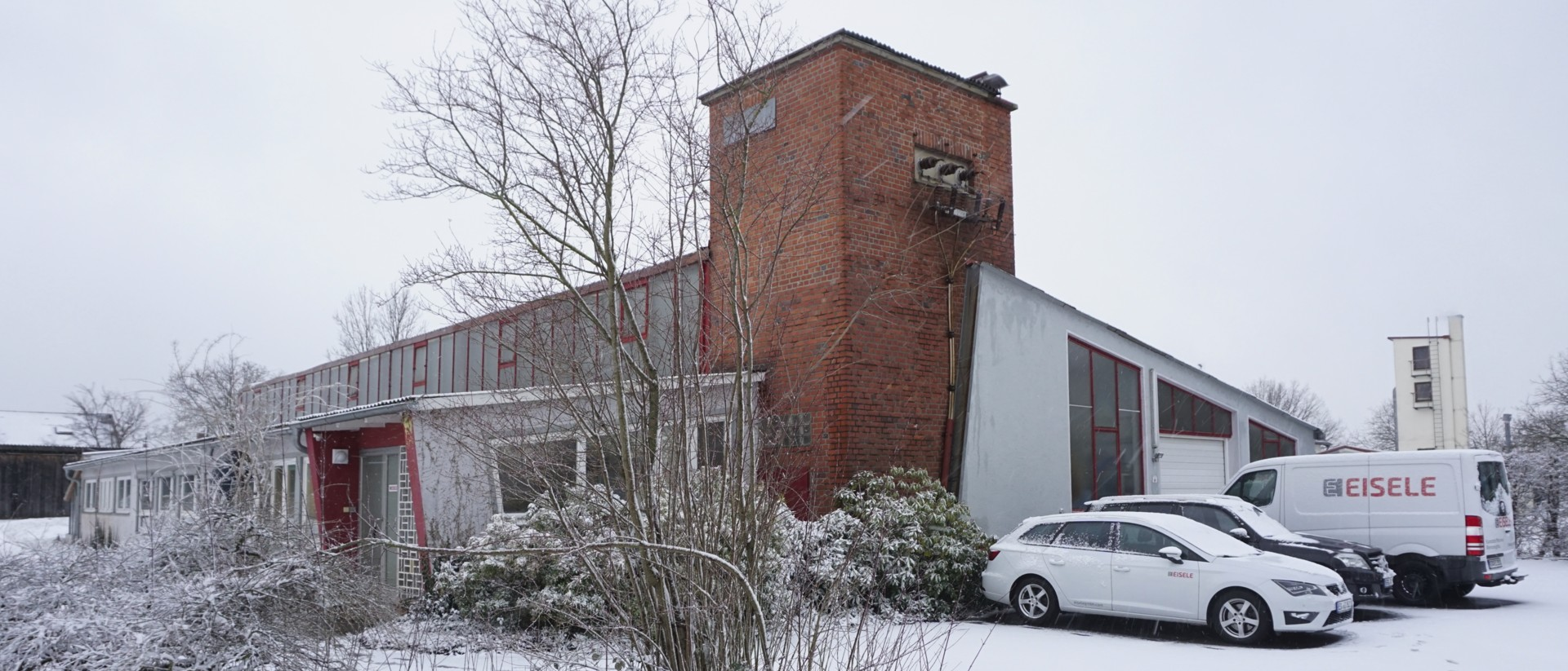 Company building in winter