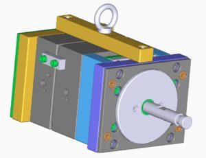 Spritzgusswerkzeug 3D-Modell